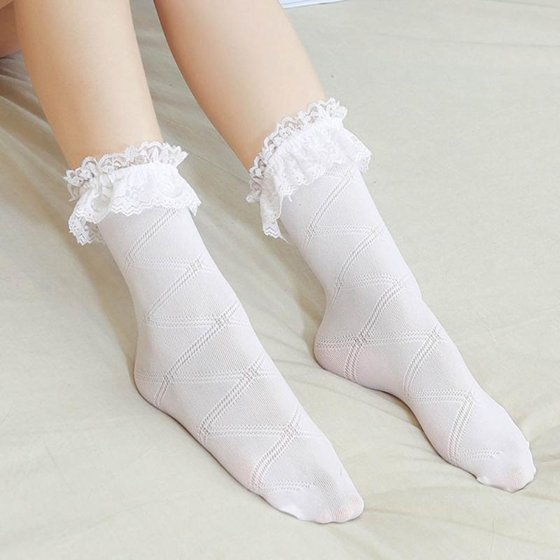 Women Lace-up Socks Lolita Japan Student Thin Female Adult Socks Ventilation Summer Fashion Korean Style Young Girl Casual