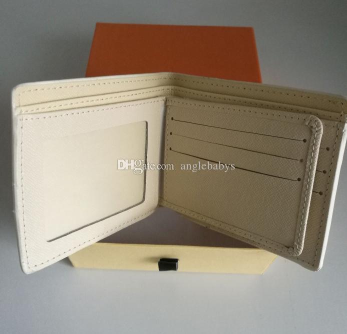 progettista di lusso portafogli speciale tela più piccola portafoglio breve bifold con la scatola, il raccoglitore degli uomini, raccoglitore di affari plaid per i maschi