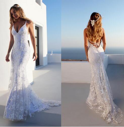 Longos vestidos do casamento 2018 New White Luxury elegante varredura Brilhante Mermaid A-Line Ladies Train Lace Bordados Glitzer Abendk Vestido