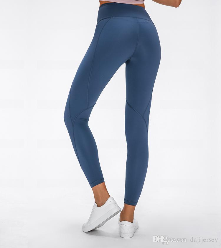 LU-11 2020 новый Высокая талия женщины йога брюки эластичный плотный сплошной цвет хип-лифтинг девять очков фитнес брюки