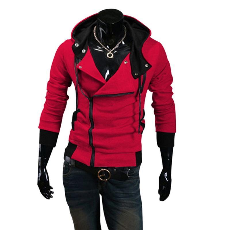 Pulls d'homme-up Zip Jacket Bouton Casual pur Manteau Slim manches longues Hauts Homme Sweat-shirt mode sport Plus Size