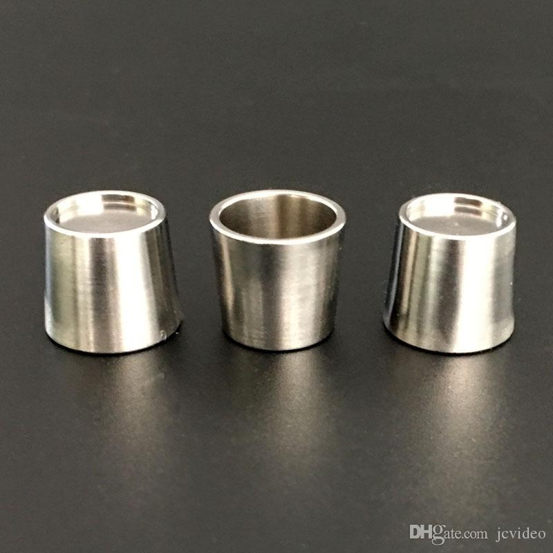 Nueva cuarzo titanio Insertar cuencos Pico Cuenco con tapa plana de uñas térmica inferior para Domeless grueso de cuarzo bong cacharro