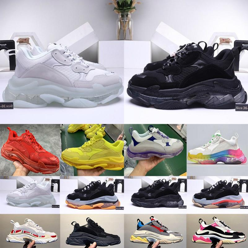 Triple S 2.020 papá zapatos de oro de la vendimia Triplicador mens ocasionales de la plataforma de las mujeres de las zapatillas de deporte Zapatos vierten Hommes 06