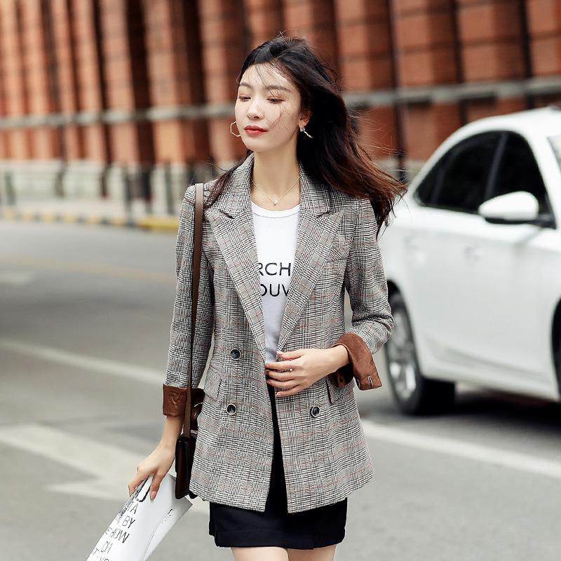 Automne et blazer femmes d'hiver 2020 nouvelle casual veste bureau professionnel coréenne petit costume rétro manteau d'entretien de la mode