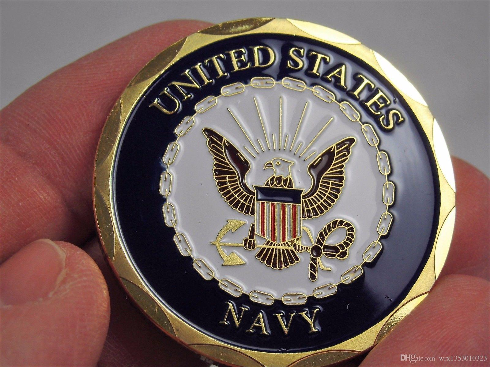 Shellback US Navy Marine Corps Challenge Coin