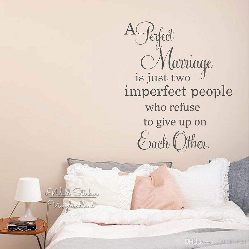 Perfect Marriage Quote Wall Sticker Love Quote Wall Decal Love Quote Wall Decor For Bedroom Vinyl Sticker Home Decoration Q219 Tree Sticker For Wall