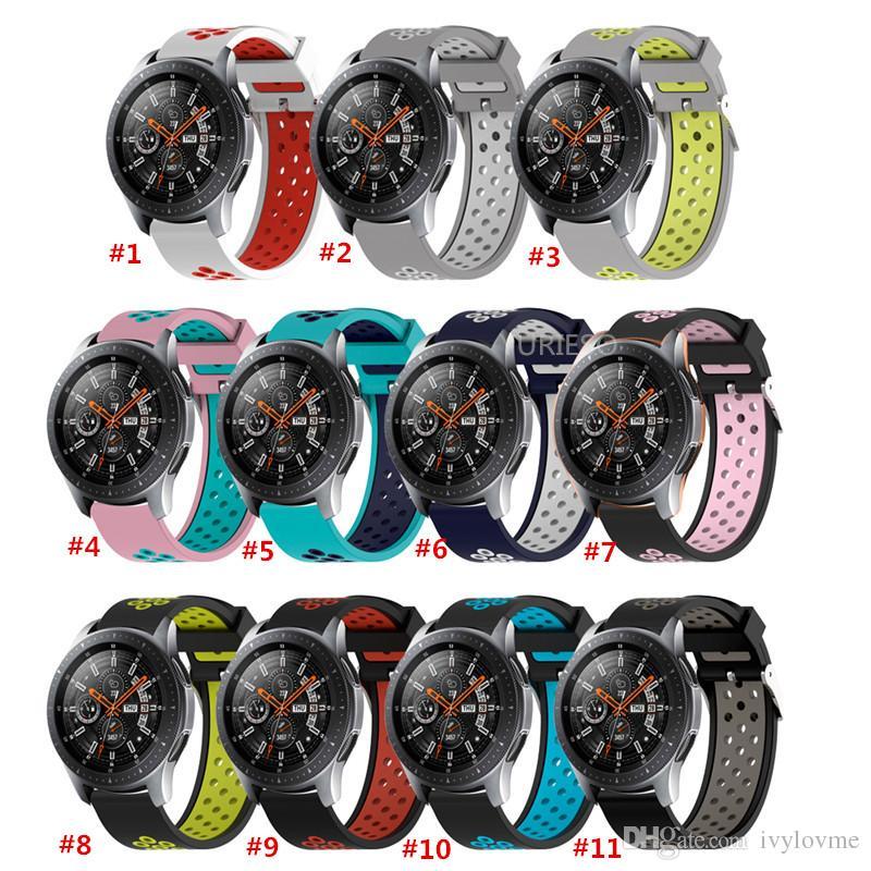 Cinturino in silicone sportivo soft per Samsung Galaxy Watch 42 Cinturino cinturino intercambiabile 46 mm per Samsung 20 22mm Cinturino gear S3 S2