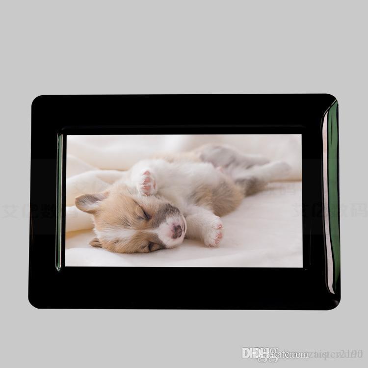7 بوصة إطار الصورة الرقمية 8GB 16GB 32GB الخيار LED الخلفية البوم الالكترونية صورة فيديو كليب هدية جيدة