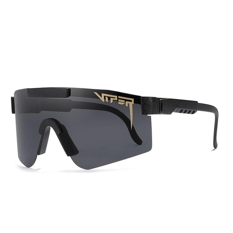 Pit Viper Esporte óculos polarizados para homens mulheres TR90 lente Quadro preto PV01-c1