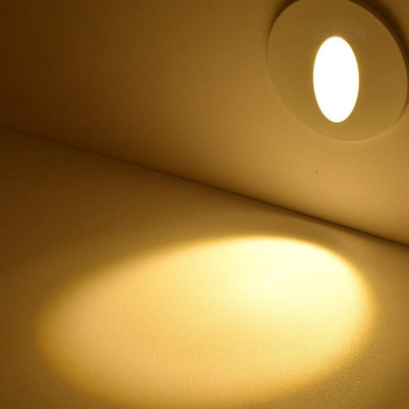 Aluminium moderne bref LED Lumière d'escalier AC85-265V 1W 3W murale Fond clair Étape Aisle Applique DC12V