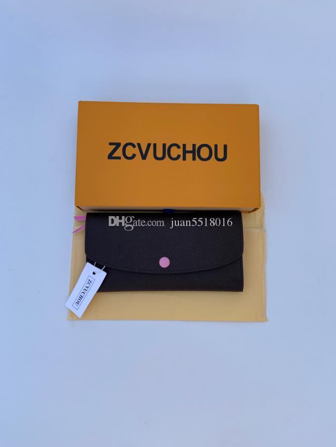 freies Verschiffen Großhandel Rotunterseiten Dame lange Mappe Mehrfarbengeldbörse Kartenhalter original box Frauen klassische Tasche mit Reißverschluss Serien numbe