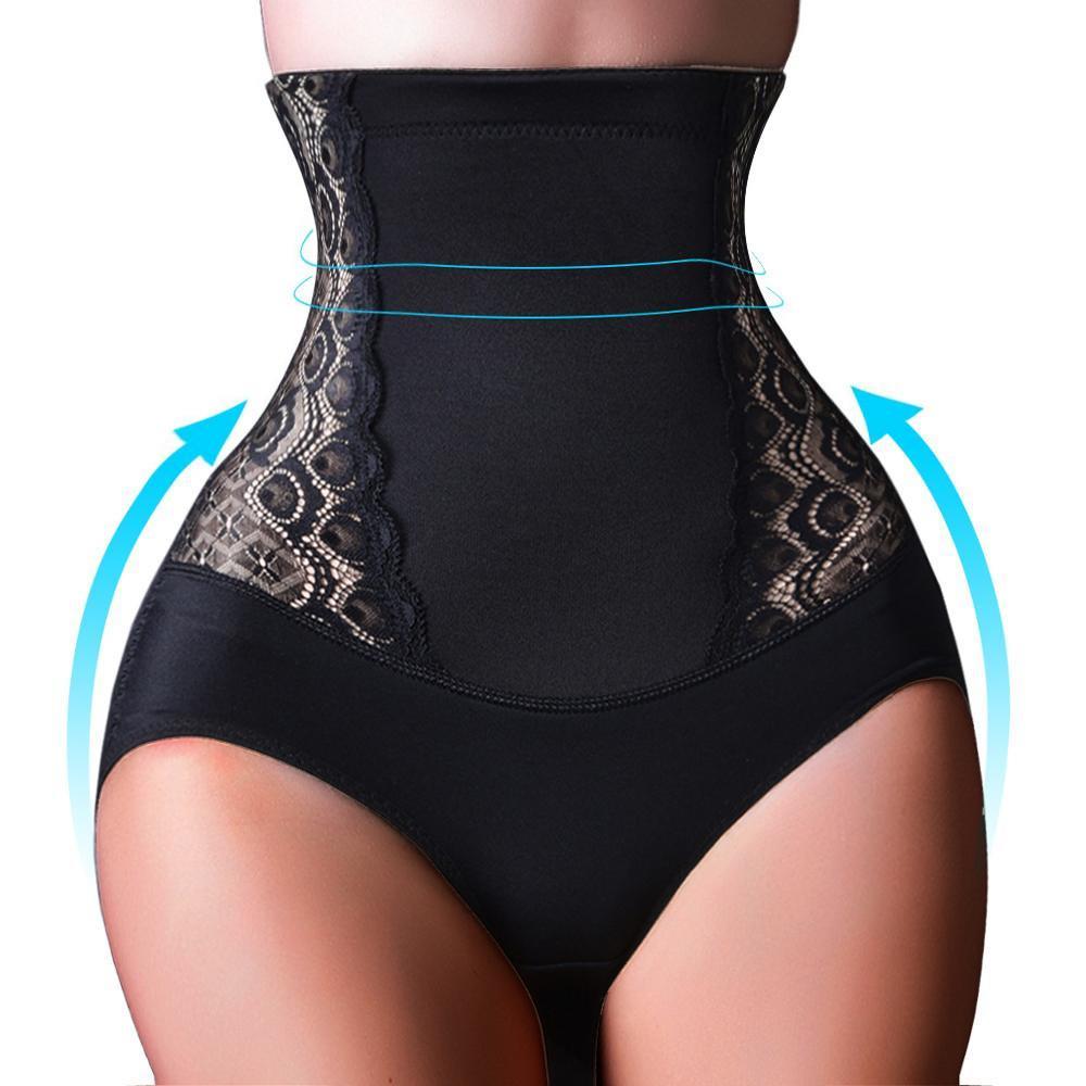 Women High Waist Control Panties Lace Slimming Underwear Butt Lifter Briefs
