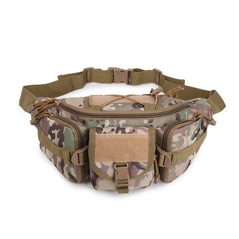 600D Oxford de nylon táctico bolsa de bolsas de deportes paquete de la cintura del hombro de Molle camping Escalada Senderismo bolsa Camo Bolsa Blet