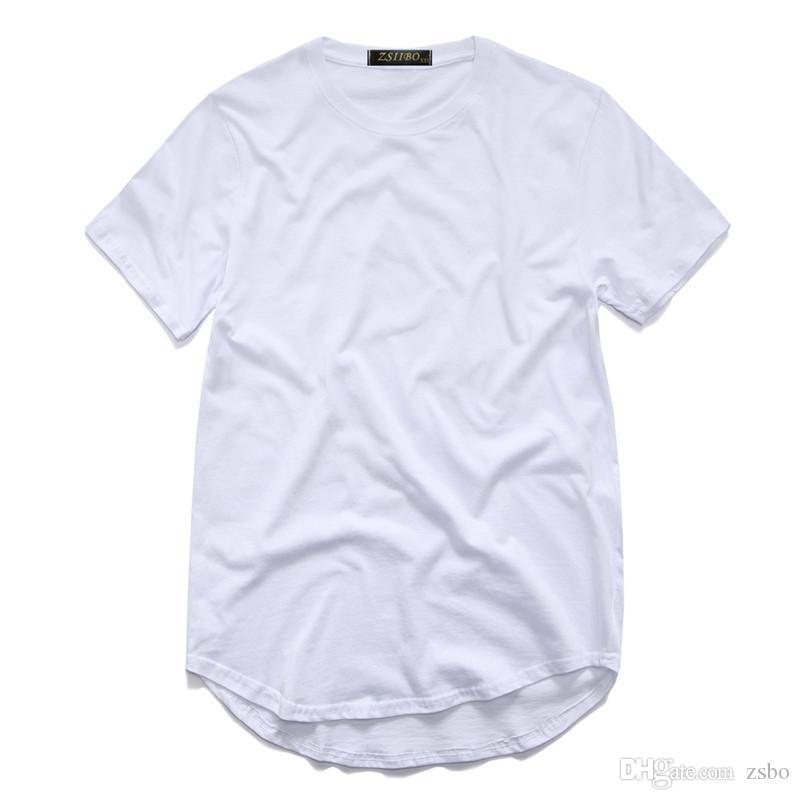 Fashion t shirts for men extended t shirt longline hip hop tee shirts women Urban swag clothes harajuku rock tshirt homme TX135 F3