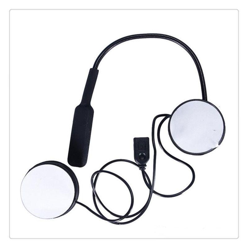Casco de la motocicleta Auricular Bluetooth 4.0 Altavoces estéreo duales Manos libres Música Control de llamadas Mic Auricular Alta calidad