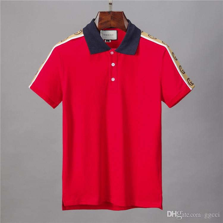 2020 Heißer Verkauf Luxus Europa Paris Patchwork Männer Polo-Mode-Männer Designer-T-Shirt Casual Men Kleidung Meduse Cotton Tee Luxus-Polo