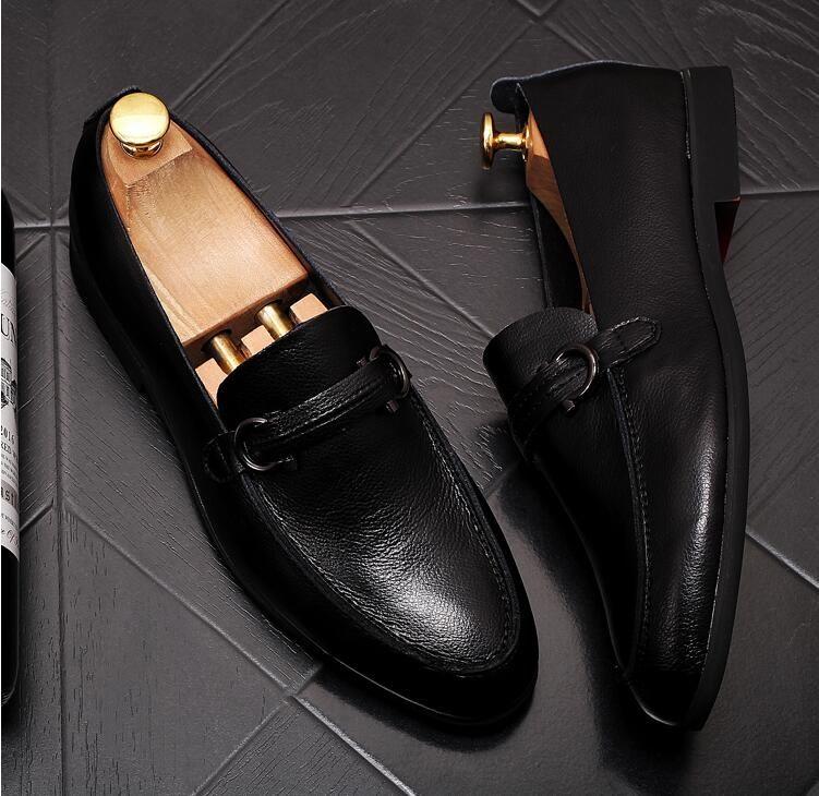 erkekler makosenler ayakkabıları yumuşak deri kayma siyah kahverengi Erkek İş deri ayakkabı Biçimsel deri ayakkabı Sapato Sosyal Masculino
