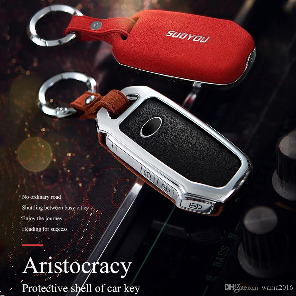 For Rolls-Royce wraith Car Leather Smart Key case Remote Entry Fob Case Cover