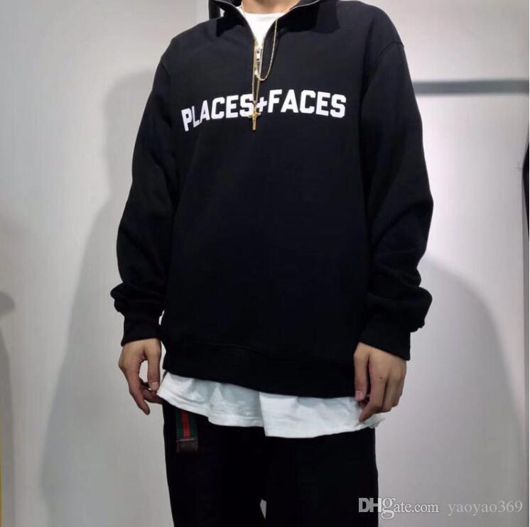 Mode Classique Places Faces Hoodie Mens P + F hoodies jaune design Hommes Femmes Streetwear Coton Pull Manteau Sweat
