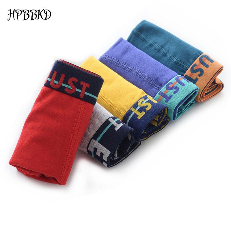5pcs/lot Solid Color Boy Panties Cotton Children Breathable Underwears Boxer Kids Shorts Pants Mix Wholesale