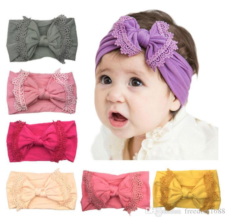Kid Girl Baby Headband Toddler Big Bow Knotted Hair Band Accessories Headwear