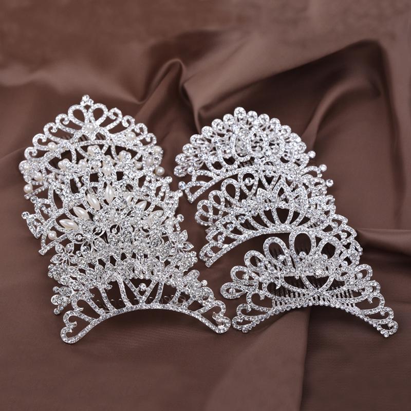 Princess Crown for Girls Show Bridal Crown Tiara Crystal Floral Wedding Bridal Hair Accessories Head Jewelry