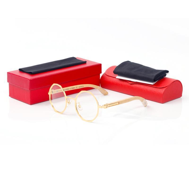 Achteckigen Rahmen drei Nägel kurz Hardware-Gold-Silber-Bambus Beine Gap Länge Full Frame Marke Designer Sonnenbrillen Designer Brillen Rahmen