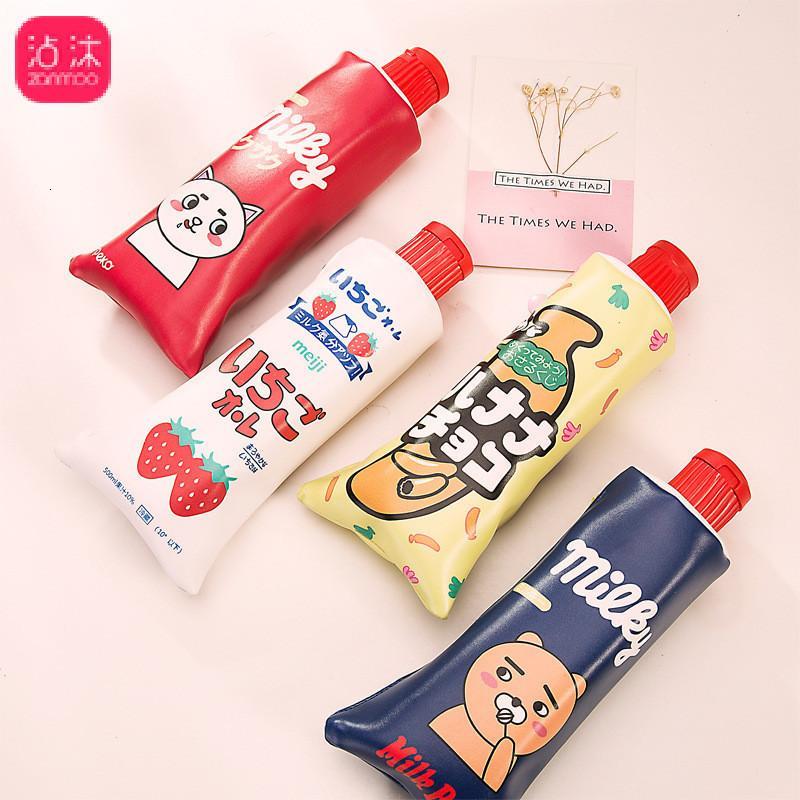 Personalidade 1pc Originalidade dentífrico Modeling Student caixa de lápis encantador dos desenhos animados Will Capacidade Aceitar Bag Traga lápis