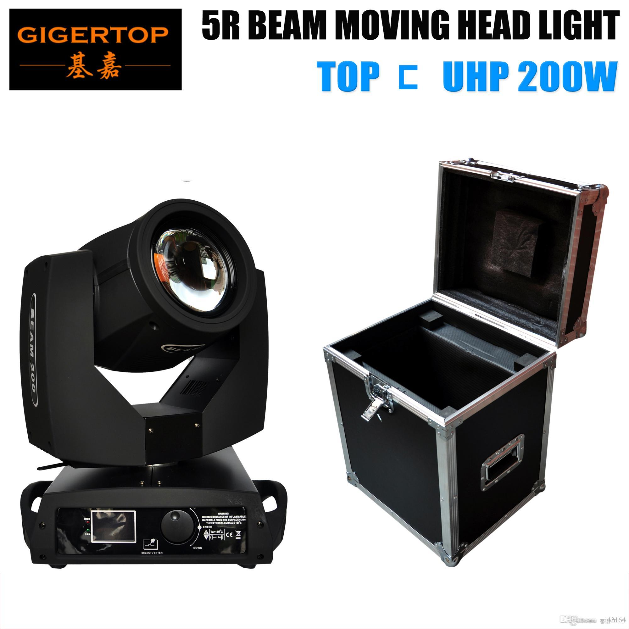 GIGERTOP Flight Case Verpackung 1 in 1 Beruf Moving Head Sharpy 5R 200W Sharpy Strahl Disco-Licht-16 Prism Rotation Phase Motor