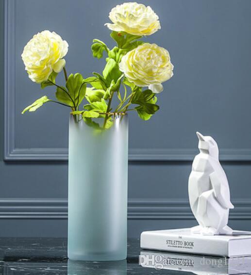 الشمال زخرفة زهرية غرفة المعيشة الحديثة زهرة ترتيب الإبداعي بسيط الجدول الديكور الصغيرة الطازجة الزجاج المجففة زهرة