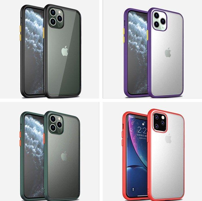 Новый корпус телефона для iphone 11 про макс матового прозрачной крышку ПК + TPU защитного смартфон случай