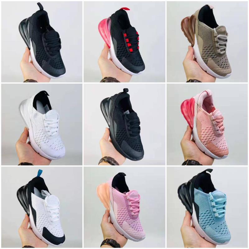 Nike air max 270 De haute qualité tout-petits enfants Courir 27 chaussures statique GID de chaussure du sport déversent garçons Enfant filles Formateurs Casual taille 22-35