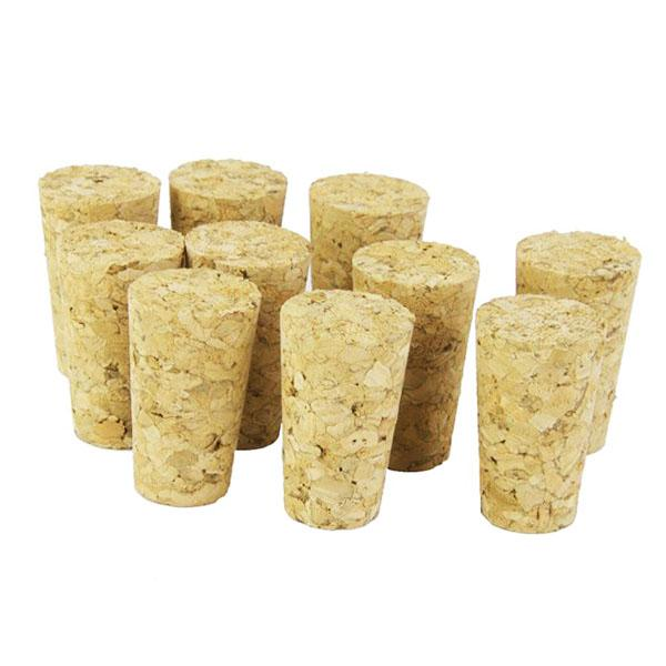20Pcs / Lot Natural Wood Mantarlar Şarap Stopper Ahşap Şişe Stopper Koni Tipi Şarap Mantarlar Tak Sızdırmazlık Cap Bira kapağı Şişe Şişe