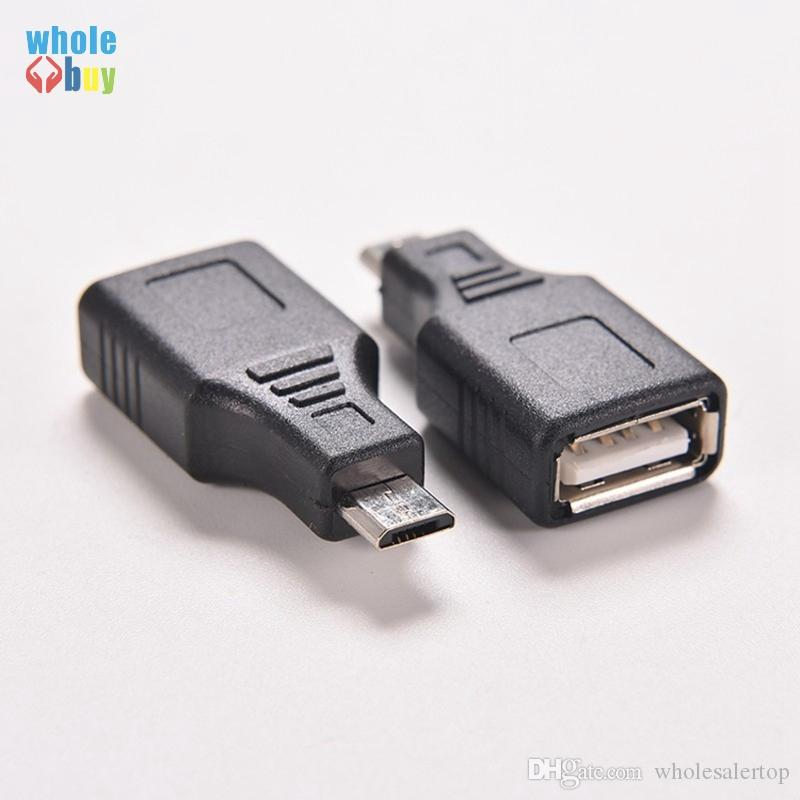 Micro-USB-zu-USB-Buchse OTG-Host-Adapter für Handy Tablet Flash Disk-Maus schwarz