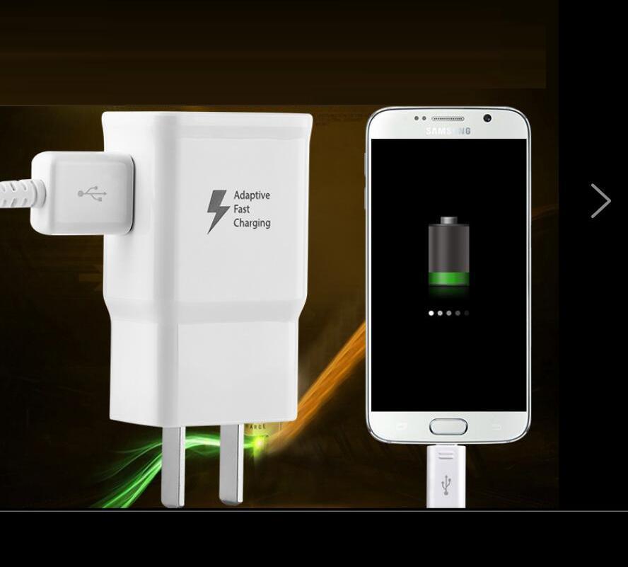 سريع التكيف شاحن الجدار 5V 2A USB الجدار شاحن محول الطاقة للحصول على سامسونج غالاكسي S6 S8 S10 ملاحظة 10 هتك الروبوت الهاتف جهاز MP3