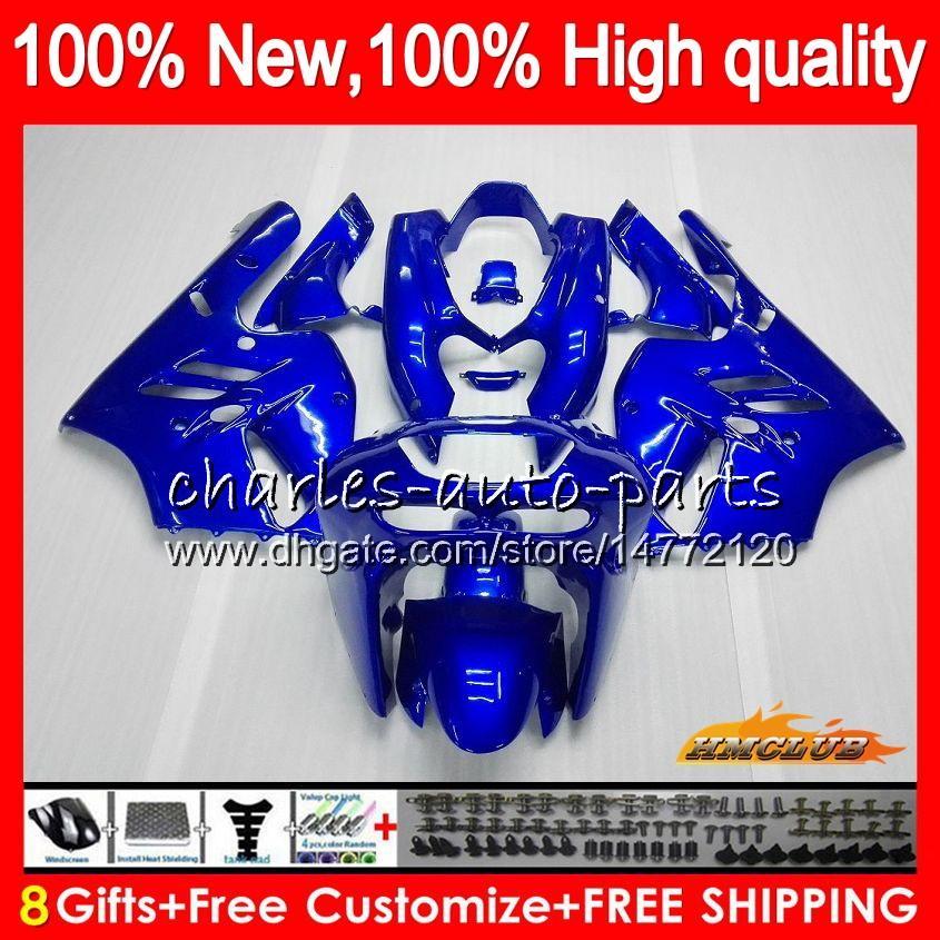 Körper für KAWASAKI glänzend blau ZX900 900 CC ZX9R 94 95 96 97 47HC.15 ZX 900 9 R 94 97 ZX 9R 900cc ZX9R 1994 1995 1996 1997 Voll Verkleidungs-Kit