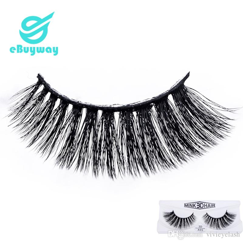 Korean PBT 3D mink eyelashes makeup tools 3D False Eyelashes For Party with box 3D Synthetic Lashes