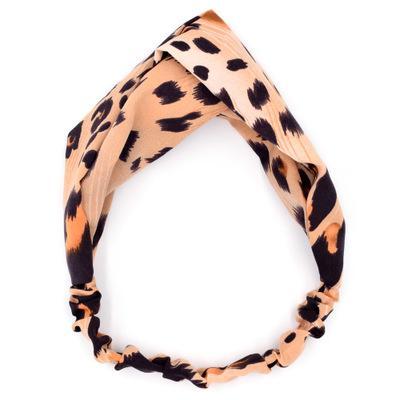 2020 Sıcak moda vahşi çapraz saç bandı bayanlar pamuk leopar spor yoga baş bandı yüz yıkamak makyaj saç bandı yüksek kalite