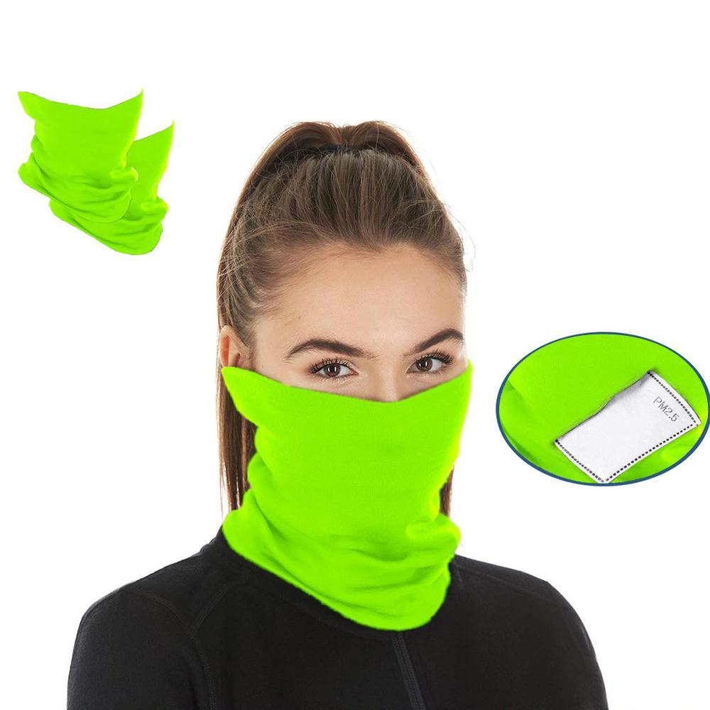 USA Nuovi arrivi azione! Sciarpa Bandane filtro in bicicletta Maschera Buff con Safety PM 2,5 Filtri maschera di protezione copertura di modo antivento Sciarpe