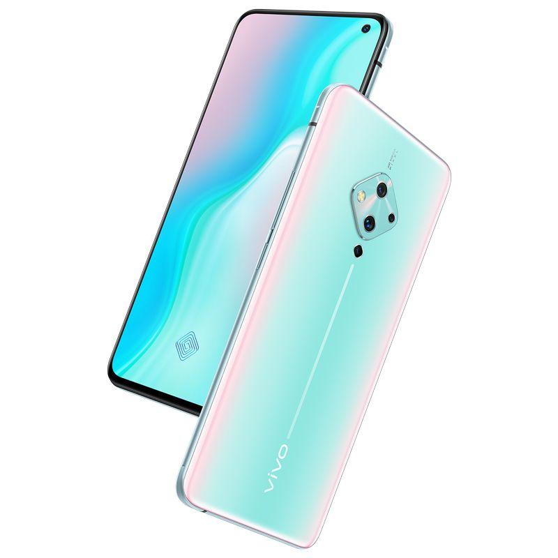 الهاتف الأصلي فيفو S5 4G LTE الهاتف الخليوي 8GB RAM 128GB ROM أنف العجل 712 الثماني النواة الروبوت 6.44 بوصة 48MP بصمة الوجه ID سمارت موبايل