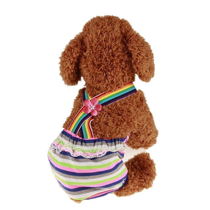 Моющийся Pet ремешок физиологических штаны собаки Пеленки Pet белье Женский собак Шорты Трусы Менструация S / M / L