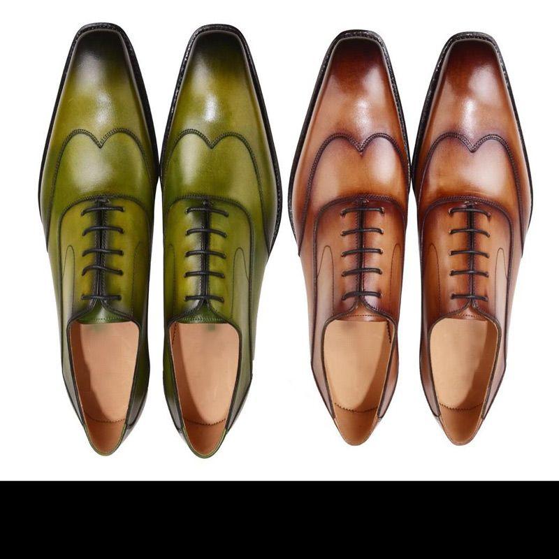 Zapatos de vestir Zapatos de monje zapatos hechos a mano de oxford zapatos hechos a mano genuinos de piel de becerro de color marrón, doble hebilla, recién llegados: 38-45 EE.UU.