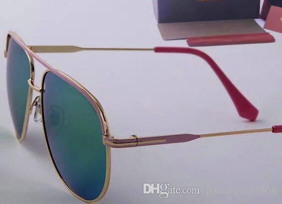 Haute qualité 539 lunettes de soleil Designer lunettes de soleil miroir Gold Frame Mode Lunettes de Soleil UV Hommes Lunettes de soleil pilote lunettes de soleil classiques
