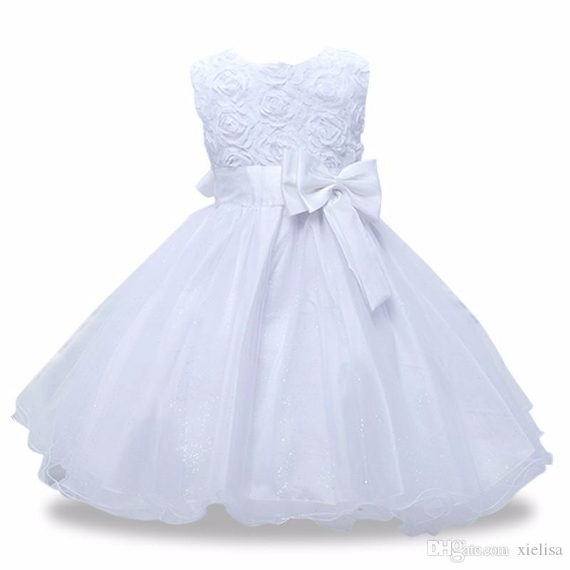 Ärmel Spitze Mädchen Sommer-Kind-Kleid-Mädchen-Kleidung Prinzessin Kleider Performance-Geburtstags-Party-Kleid für Mädchen Vestidos