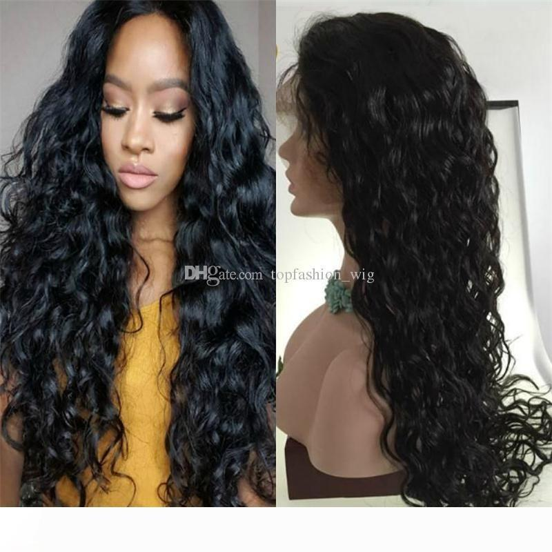 8A Glueless Lace Front Human Hair Wigs For Black Women Wet And Wavy Brazilian Full Lace Wigs With Baby Hair Lace Front Wig
