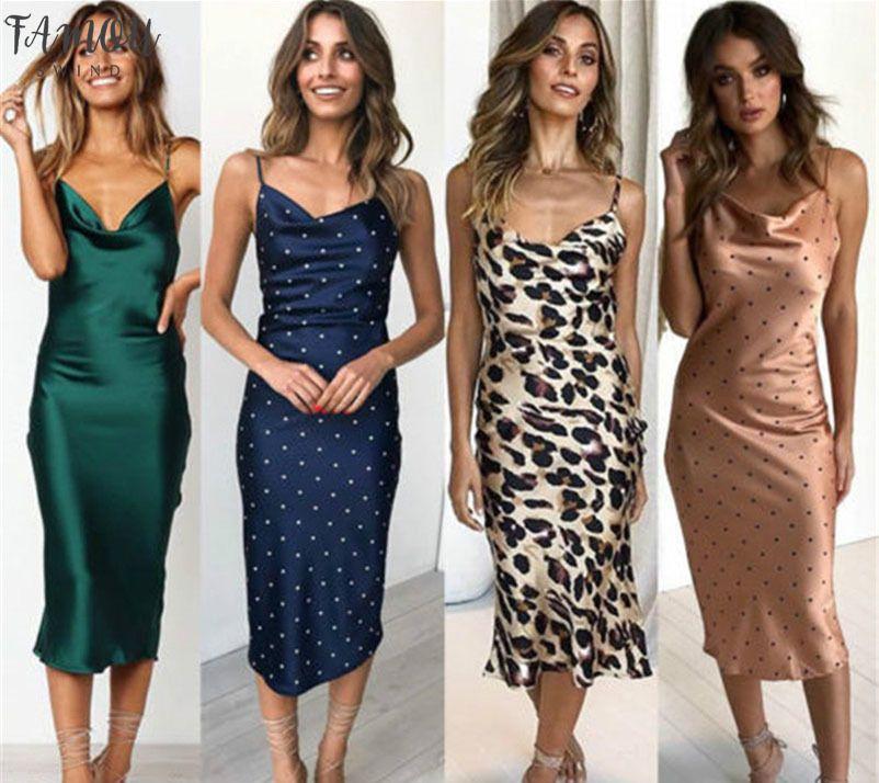 Mulheres Lady Casual Homewear o verão longo vestido de seda BODYCON Sólidos Spaghetti Deslize Vestido de Verão Roupa Babydoll