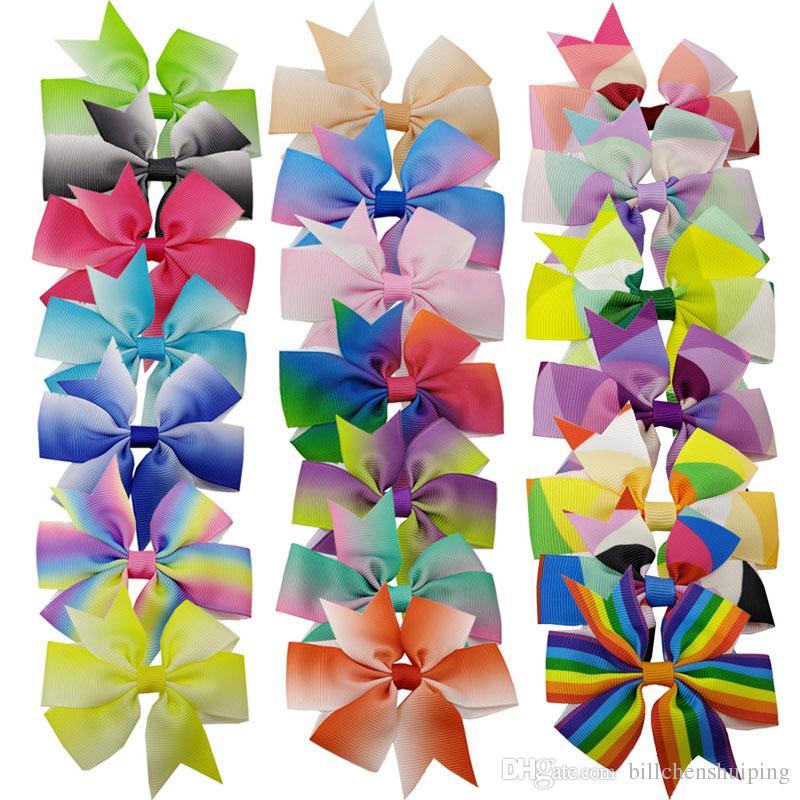 Vendita calda New Colorful Bow Barrettes Infant Bowknot Accessori per capelli Bambini Hairbands Moda Baby Princess Copricapo