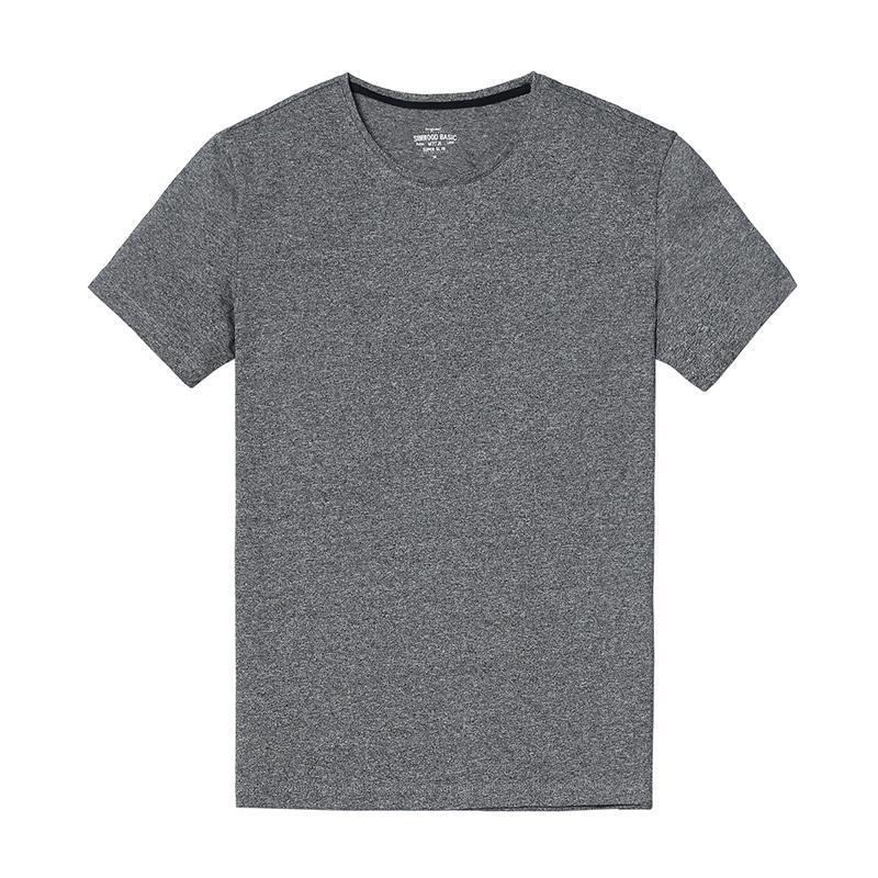 Maniche corte degli uomini di marca del cotone di estate Skinny T-Shirt casuale solido O Collo Camicie Uomo T Plus Size Famous