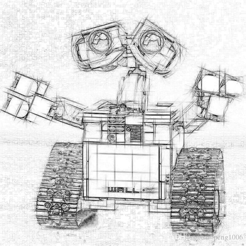 16003 Idea Robot WALL E с 21303 Игрушками Модель Строительный набор Самоблокирующиеся Кирпичи Блоки Развивающие игрушки Подарки на день рождения