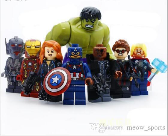 Süper kahraman yapı taşları oyuncakları Çocuk eğitici oyuncaklar Bebek İstihbarat Geliştirme Jigsaw Yapı Taşı Man bebek bebek